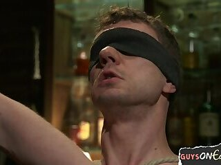 Bondage,Domination,Fetish,bdsm,muscle,hung,gay Edged young hunk getting dominated