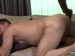 Anal,Bears,Gloryhole,group sex,gay A black lad with monster cock fucks his white bf