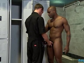 Ebony,Interracial,gay,big dick,muscle,hung,locker room,cock 2 cock Big dick gay hardcore anal sex and cumshot