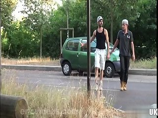Outdoors,Blowjob,gay,outdoor Hot gay outdoor and anal cumshot
