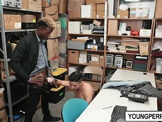 Big Cock,Interracial,Blowjob,Office,gay,hunk,bbc,youngperps Young perp given a lesson by LP officer