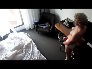 Amateur,Solo,Voyeur,gay Horny blond beats off in his hotel room