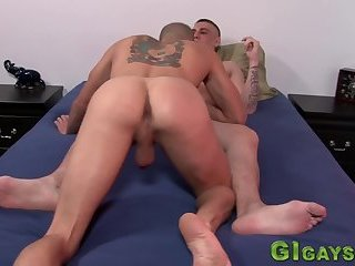 Amateur,Blowjob,Bareback,gay Straight soldier riding