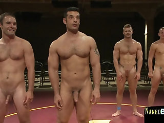 Big Cock,Body Builders,Domination,Hunks,public,gay Muscular hunk dominated during wrestling