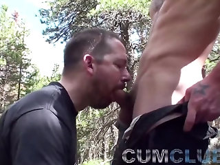 Amateur,Mature,Outdoors,Blowjob,gay Mountain fellow cum Swallowing