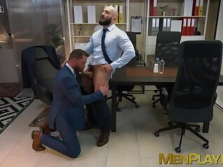 Anal,Blowjob,hunk,office sex,big dick,reality,JACKET,work,businessmen,men in suits,MenPlaying,executive,gay Businessmen stain their office table and equipment with cum