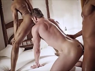Anal,Amateur,Threesome,gay 2black and 1ginger Cock