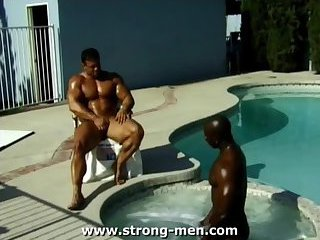 gay Black stud big cock swallowing