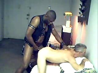 gay Ebony drills his friend in doggy style