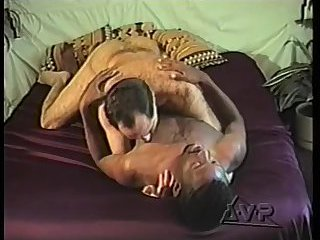 gay Vintage dudes interracial sex