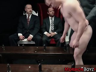 anal,threesome,uniform,gays,anal sex,ass fucking,uniform sex, 3some,gay Punished mormons jizzed