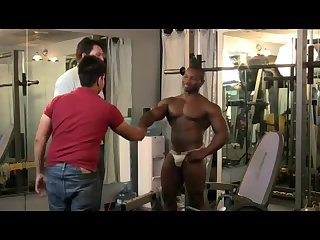 gay Sporty black man cock sucked