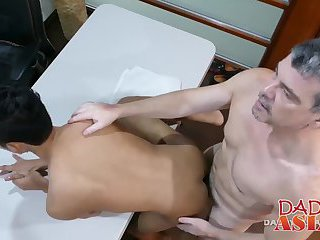anal,interracial,anal sex,hardcore,asians,interracial sex, daddies,gay Horny asian twink gets his asshole streched by his boss