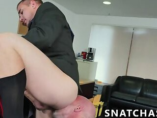 Anal,Big Cock,Hunks,Tattoo,Threesome,Blowjob,Office,gay sex,big dick,stud,jock,glasses,hardcore gay,cowgirl,Snatchass,gay Macho manager banging with office bitches after work