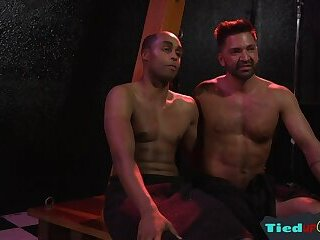 Bondage,bdsm,muscle,hung,gay Ebony hunk flogged while being watched