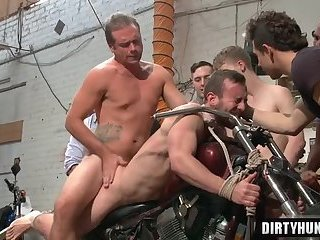 Anal,Bondage,Domination,Fetish,Hunks,gay,group sex,fuck,muscle,bound,bdcsm Muscle gay bound and facial