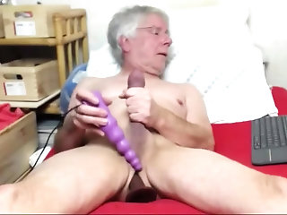 Amateur,Masturbation,Solo,Mature,toys,daddy,grandpa,gay old man jack off On web camera