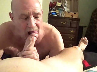 Pov,Blowjob,cum,deepthroat,daddy,bald,gay Watch me as i suck all the cum out of Stevens cock and balls