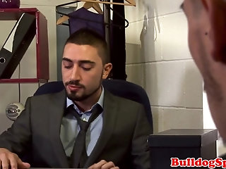 Anal,Cumshot,Blowjob,Office,muscle,hung,gay Office hunk enjoys slamming tight ass