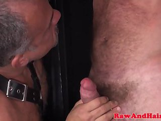 anal,bears,tattoo,bear,anal sex, tattoos,dominating,fetish sex,gay Barebacked silver wolf gets it rough