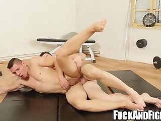 Tattoo,Blowjob,Bareback,wrestling,bigcock,bigdick,jock,Muscular,sports,fuckandfight,youngman,gay For these jocks wrestling determines who will get barebacked