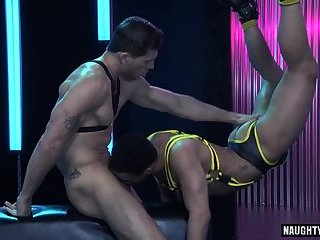 Bondage,Domination,Fetish,Blowjob,bear,leather,muscle,gay Muscle bear anal with anal cumshot