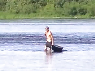 Men (Gay) Boy on river