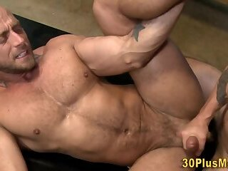 Bisexual,Hunks,cock 2 cock,gay Muscular dude licking ass and fucking