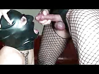 Men (Gay);Latex Hood;Submissive Blowjob;Latex Blowjob;Hood;Submissive;Black Blowjob;Black Submissive Blowjob Black Latex hood