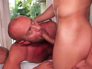 Anal,Hunks,gay,fucking,hardcore,group sex,muscled Barebacking Rizzo, Lords, Andreas & Stevens