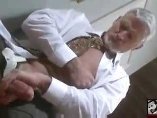 Amateur,Masturbation,Solo,Mature,grey,silver daddy,gay Sexy Bisexual Grandpa Beating his meat at the Office wo