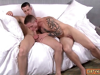 Tattoo,Blowjob,muscle,military,gay Muscle military anal sex and cumshot