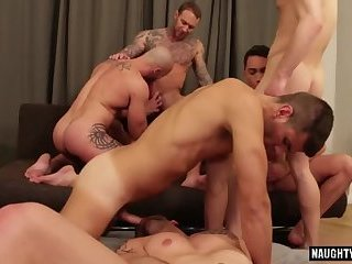 Anal,Hunks,Mature,Blowjob,gay,group sex,orgy,studs,muscle Hot gay bareback with cumshot