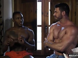 Ebony,Interracial,Threesome,muscle,gay Hot gay flip flop with cumshot