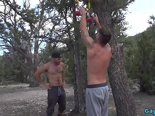 Outdoors,muscle,gay Big dick gay anal sex and creampie