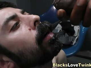 Amateur,Ebony,Interracial,gay Gay studs beard cummed
