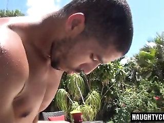 Anal,Outdoors,Threesome,gay, asslick Huge dick gay anal sex and cumshot