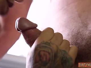 Tattoo,Blowjob,gay,muscle Muscle gay anal sex and cumshot