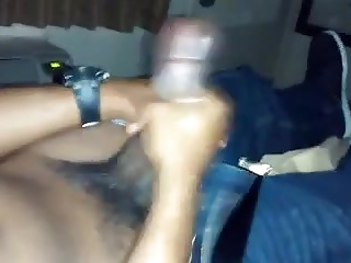 Amateur (Gay);Big Cocks (Gay);Black Gays (Gay);Masturbation (Gay);Men (Gay) Str8 buddies jerking together watching porn