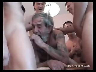 Gangbang,Mature,grandpa,old & young,gay Five Germanic Youngmen And One Oldman