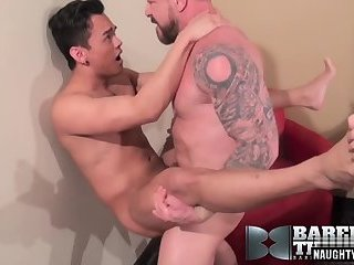 Anal,Big Cock,Asian,daddy,gay,Rocco Steele Asian daddy anal sex with cumshot