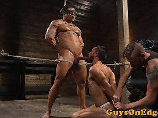 Body Builders,Bondage,Fetish,bdsm,gay Edged muscle stud caged and dominated