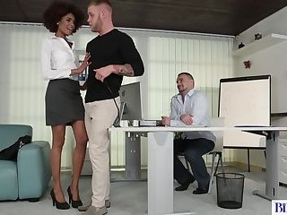 Anal,Bisexual,Threesome,Blowjob,hardcore,gay,Paul Fresh,Andy West Bisexual office workers have sex with a beautiful ebony