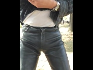 leather;asian;japanese,Japanese;Asian;Fetish;Solo Male;Gay Leather pants and park 5
