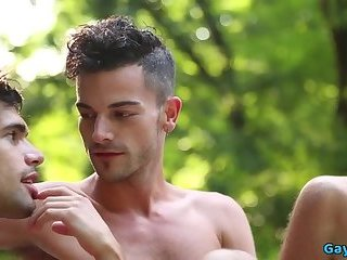Anal,Outdoors,Rimming,gay,studs,gay anal Big dick gay anal sex with creampie