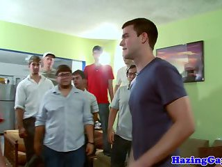 anal,gangbang,twinks,anal sex,ass fucking,group sex,hazing,party sex,gay Dicksucking twink buttfucked at frat hazing