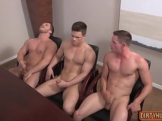 Anal,Cumshot,Masturbation,gay,muscle,hung,jocks,cum challenge Muscle gay anal sex and creampie