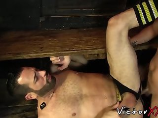 Big Cock,Dildo,Fetish,Blowjob,Bareback,hardcore,big dick,cum in mouth,jock, anal play,victorxxx,gay Jock ass toyed before bare fucking wildly with his lover