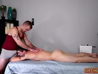 Blowjob,Massage,muscle,son,gay Muscle son anal with massage