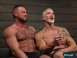 Bondage,ass,toys,leather,muscle,gay Mature handsome sub ass electroshocked